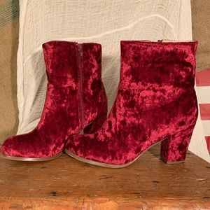 Chase + Chole Velvet Booties